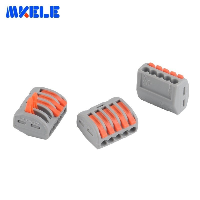 10Pcs 5Pins Universal compact wire wiring connector conductor terminal