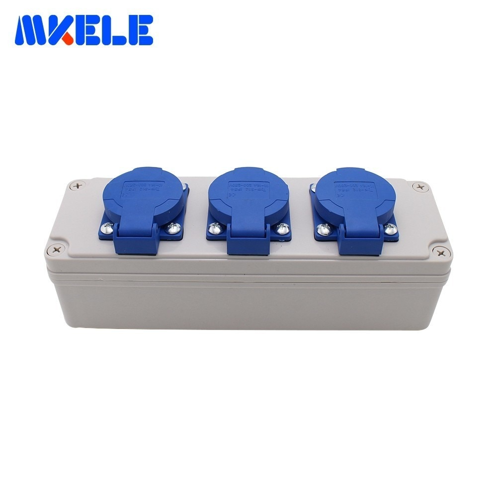Ip54 Waterproof Socket Box With Wire Connector