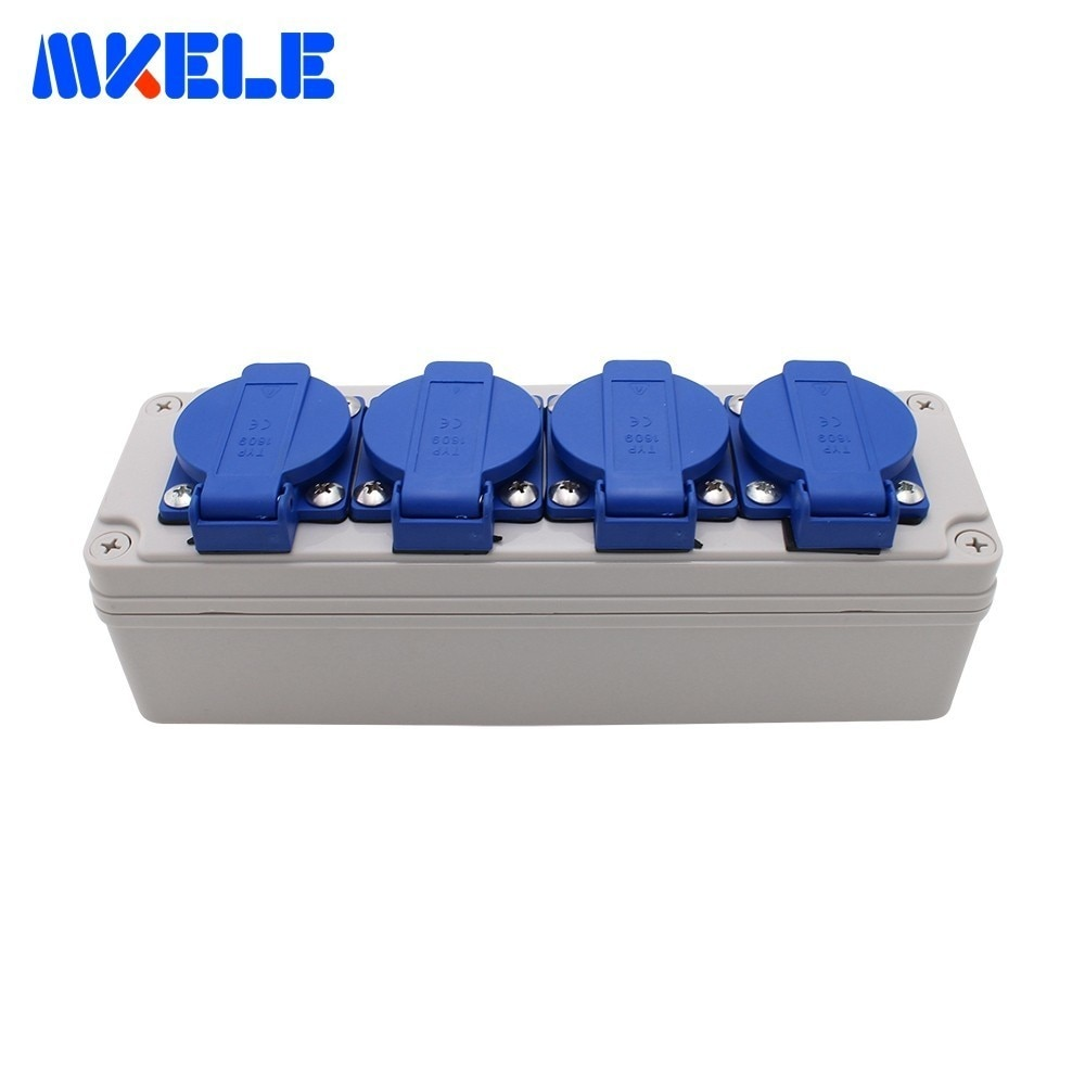 Multifunctional Outdoor Rainproof Socket Box With Wire