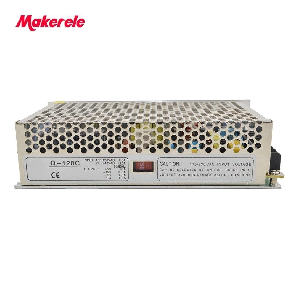 Quad Output SMPS Q-120E 5v 12v 15v 24v dc power supply high efficiency with  CE certification