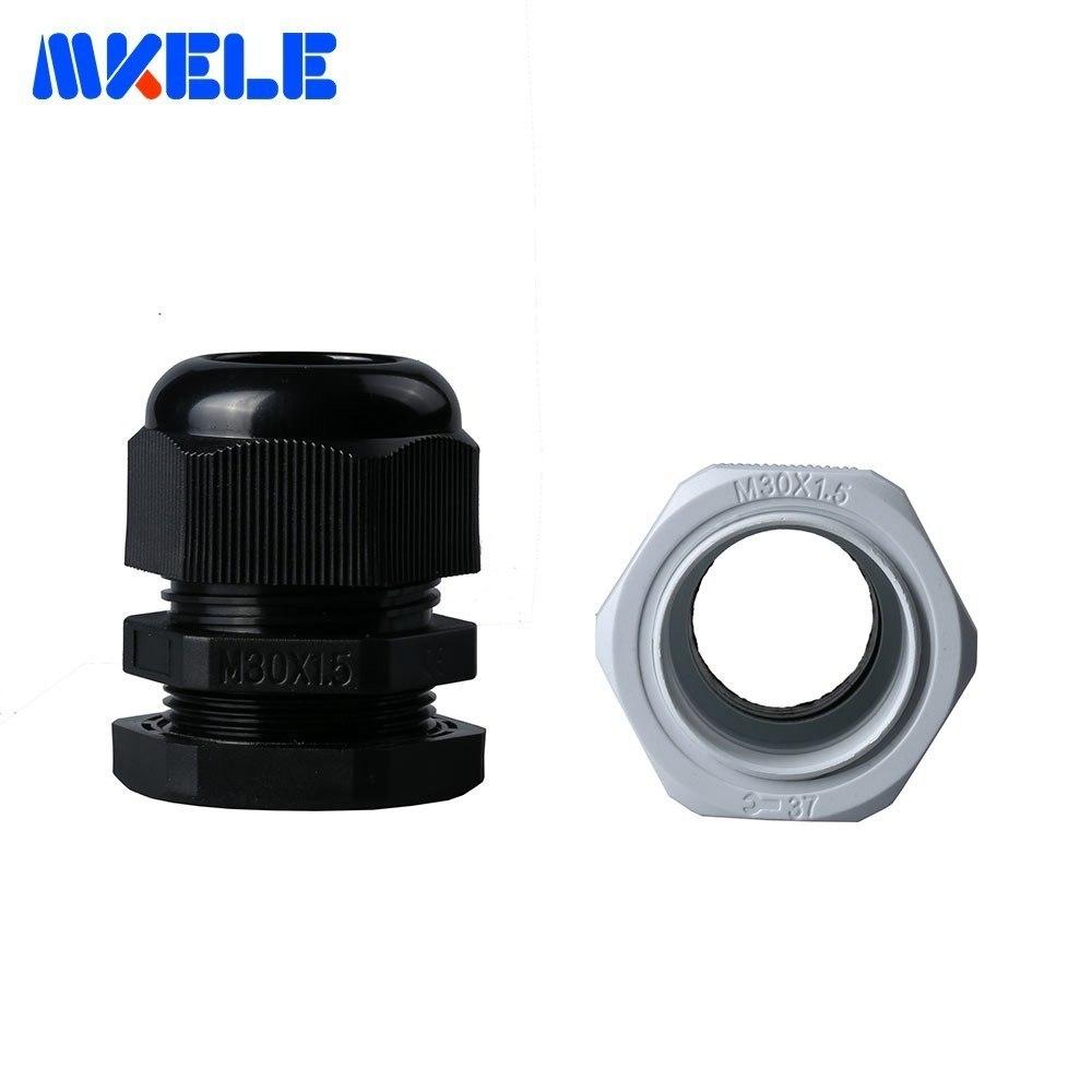 Cable gland IP68 nylon with locking nut black waterproof M16 M20 M25 M32